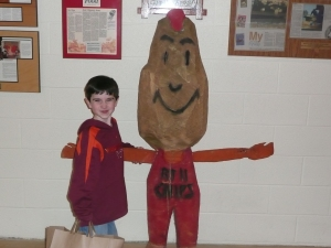 "Kids can get their picture taken with the ""Potato Guy"""