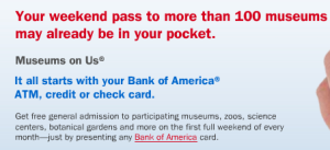 Museums on Us Bank of America