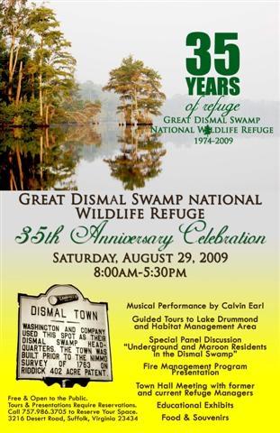 great dismal swamp anniversary poster